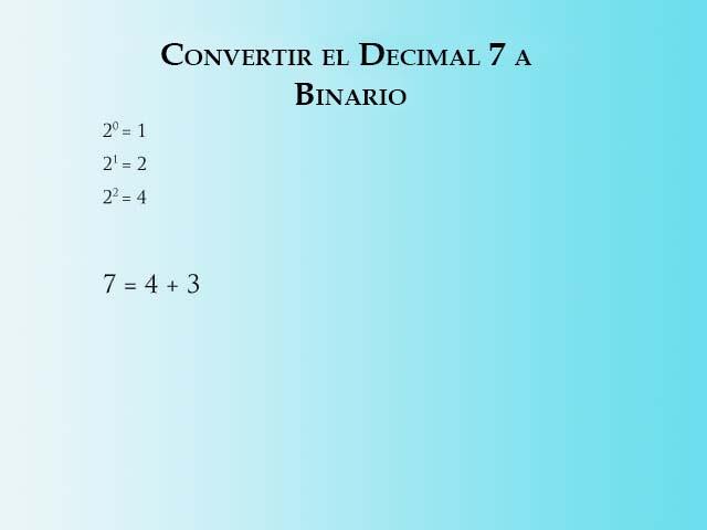 Convertir 7 a Binario - Paso 1