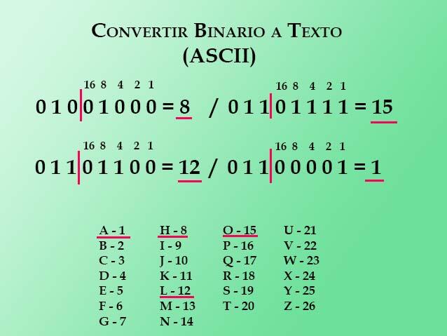 Binario a texto paso 5