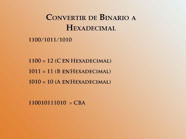 Convertir de binario a hex 4