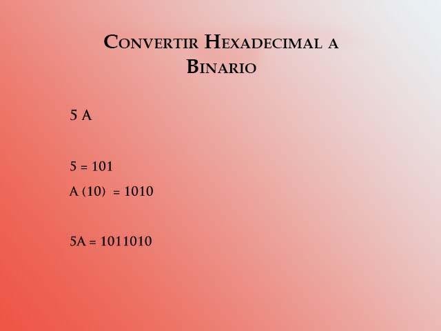 Hex a binario 1