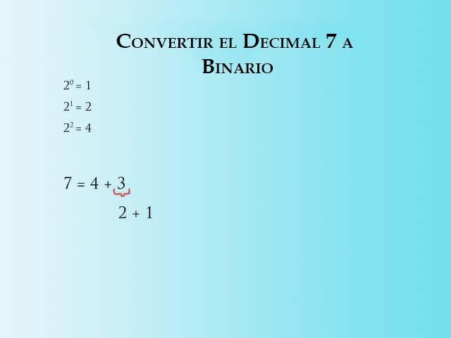 Convertir 7 a Binario - Paso 2